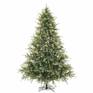 7.5 ft. Flocked Mixed Pine Christmas Tree