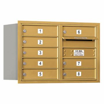 Salsbury Double-Column Rear Loading 4C Horizontal Mailbox with 8 MB1-Doors
