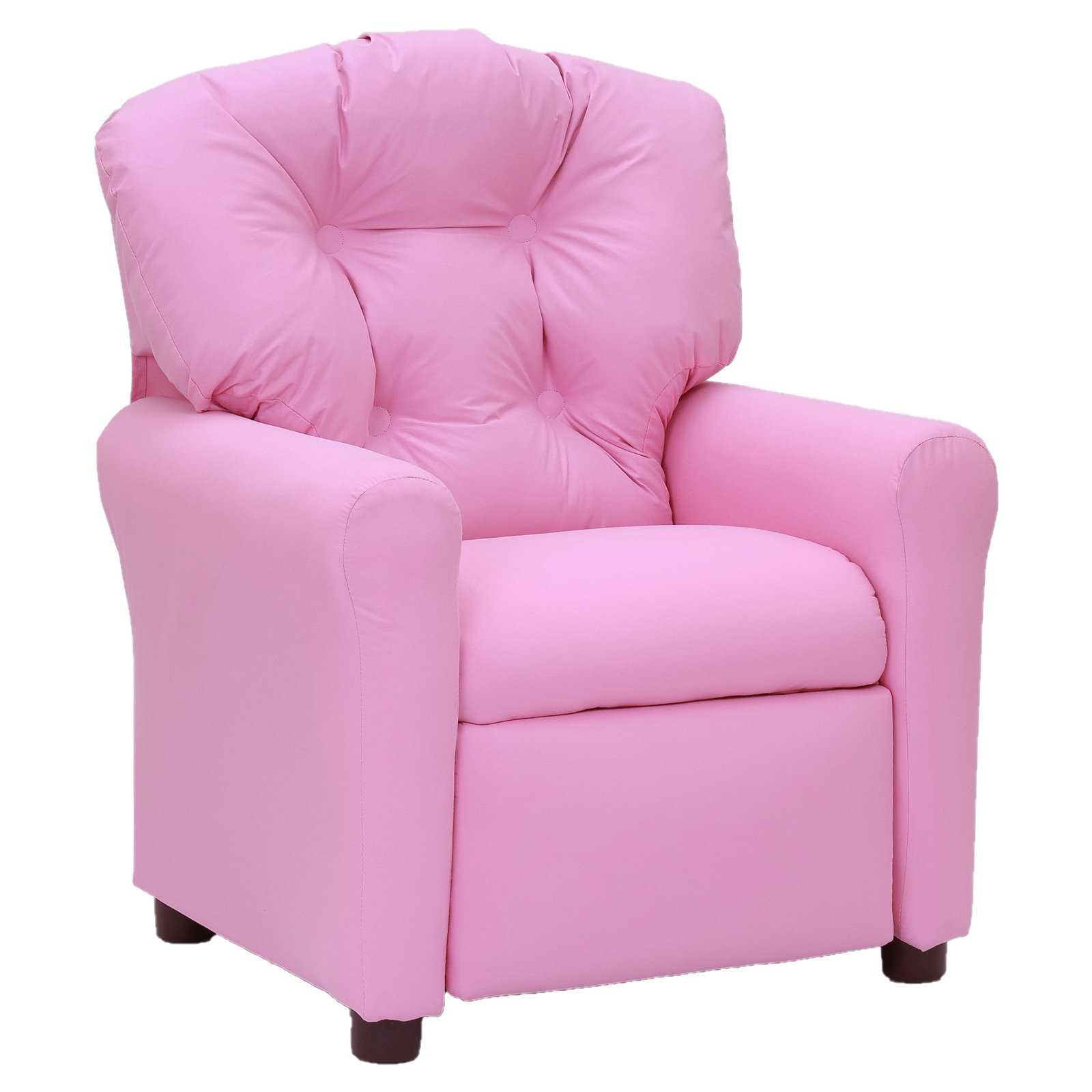 Sanford traditional microfiber childrens recliner pink for Toddler lounge chair