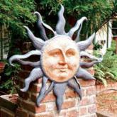  Rising Sun Garden Wall Plaque