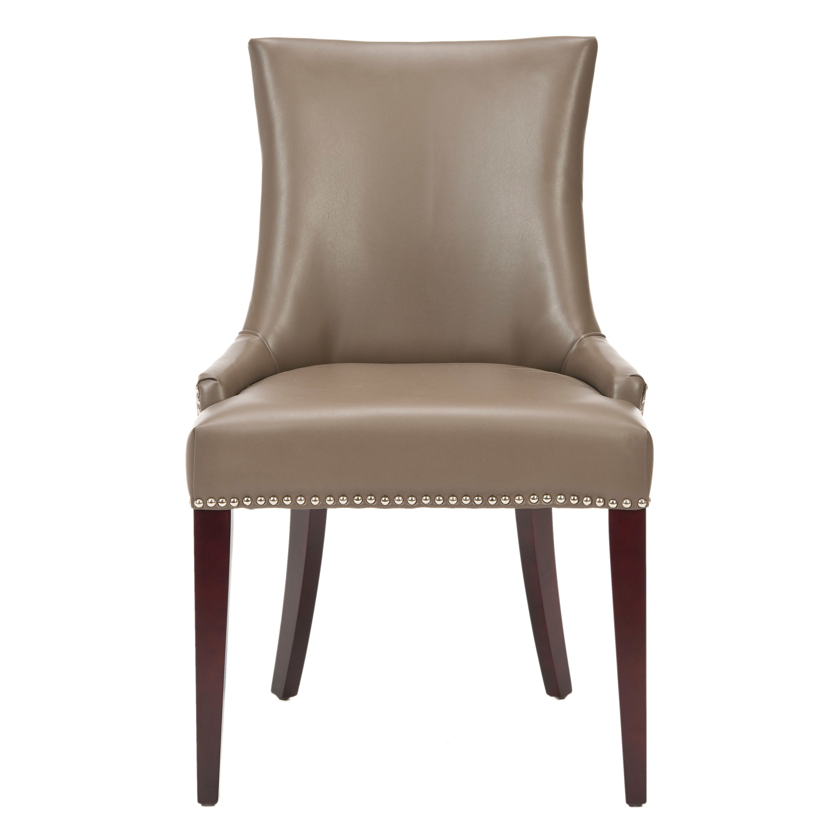 Grey Leather Dining Chair Safavieh Amelia Gray Chairs At Hayneedle