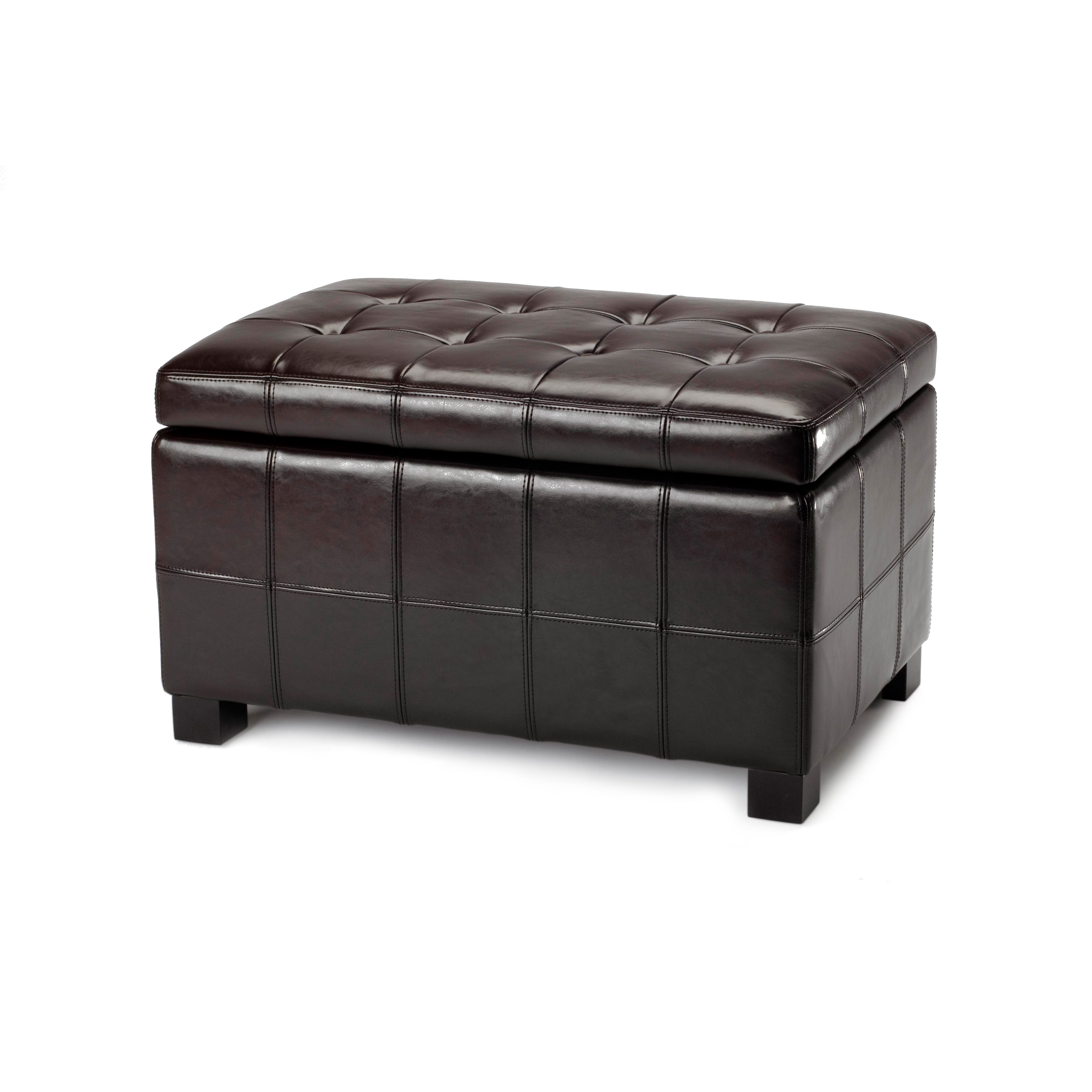 Safavieh Small Brown Maiden Tufted Brown Leather Storage