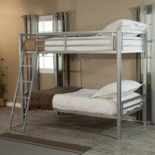Duro Hanley Twin over Twin Bunk Bed - Silver