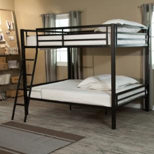 Duro Hanley Full over Full Bunk Bed - Black