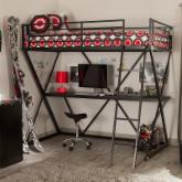  Duro Z Bunk Bed Loft with Desk - Black