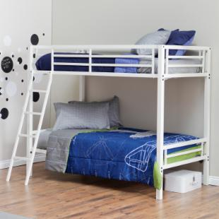 Duro Hanley Twin Over Twin Bunk Bed - White
