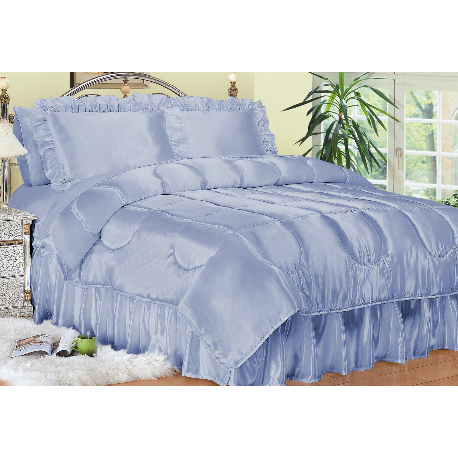 Scent-Sation Charmeuse Satin Comforter Set - Bedding and ...