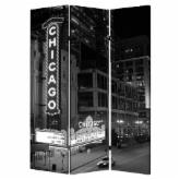  Screen Gems Chicago Double Sided Room Divider
