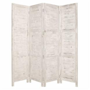 Screen Gems Nantucket Room Divider - White