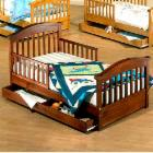  Sorelle Joel Pine Toddler Bed with Drawer
