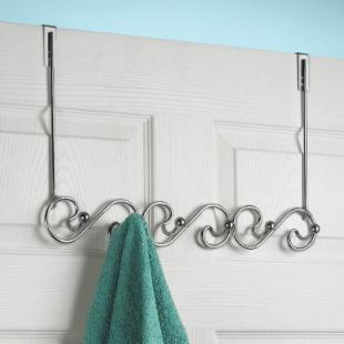 Metal Over the Door 6 Hook Coat Rack