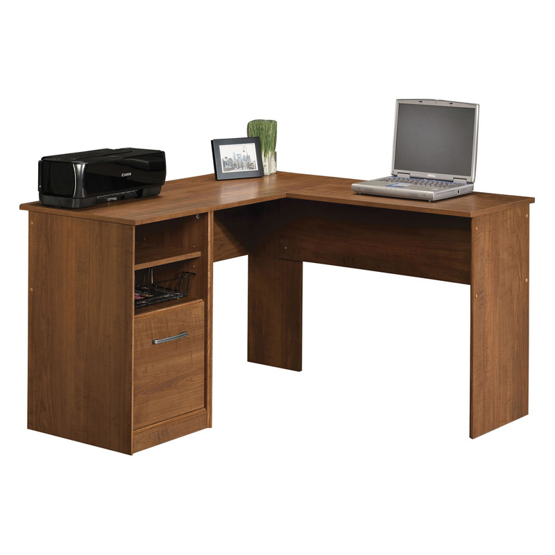 Sauder camber hill desk with return sand pear at hayneedle - Sauder computer desk assembly instructions ...
