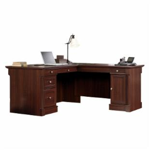 Sauder Palladia L-Shaped Desk - Select Cherry