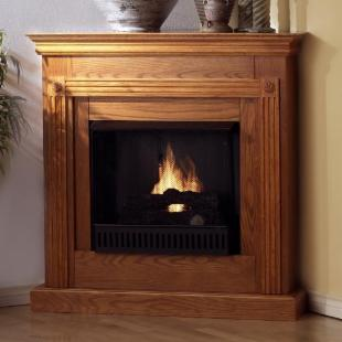 Southern Enterprises Cheryl Corner Gel Fuel Fireplace