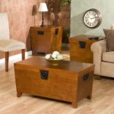  Southern Enterprises Pyramid Trunk Table Collection