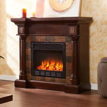 Southern Enterprises Carrington Espresso Convertible Electric Fireplace Fireplaces And Inserts