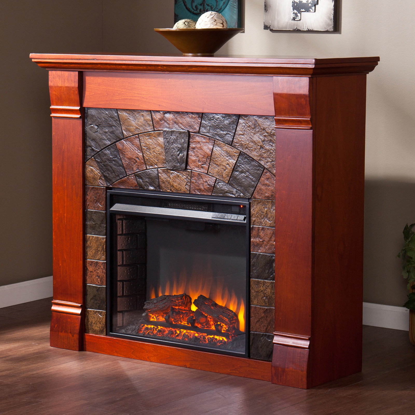 Southern Enterprises Elkmont Electric Fireplace Fireplaces At Hayneedle