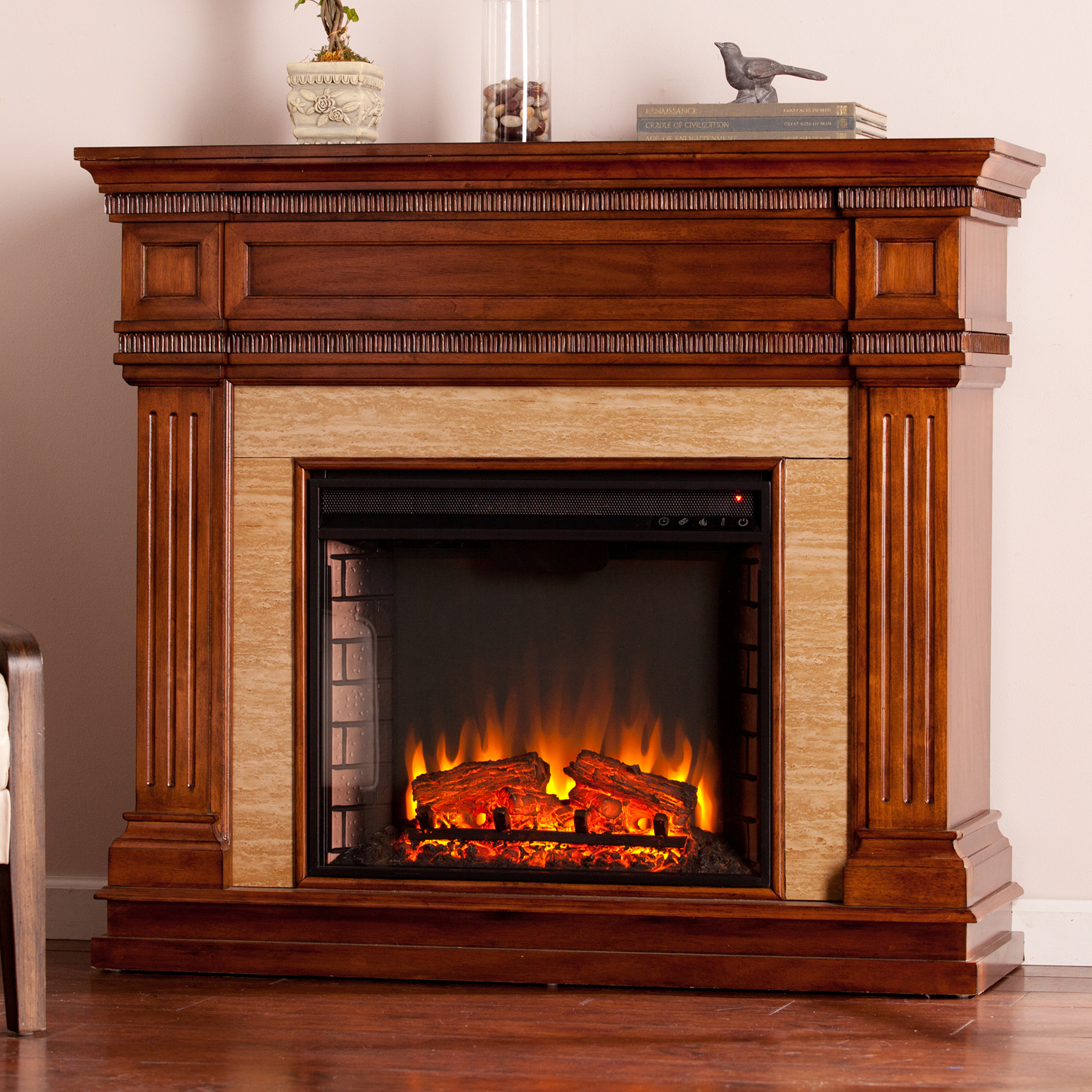 Southern Enterprises Faircrest Electric Fireplace Fireplaces At Hayneedle