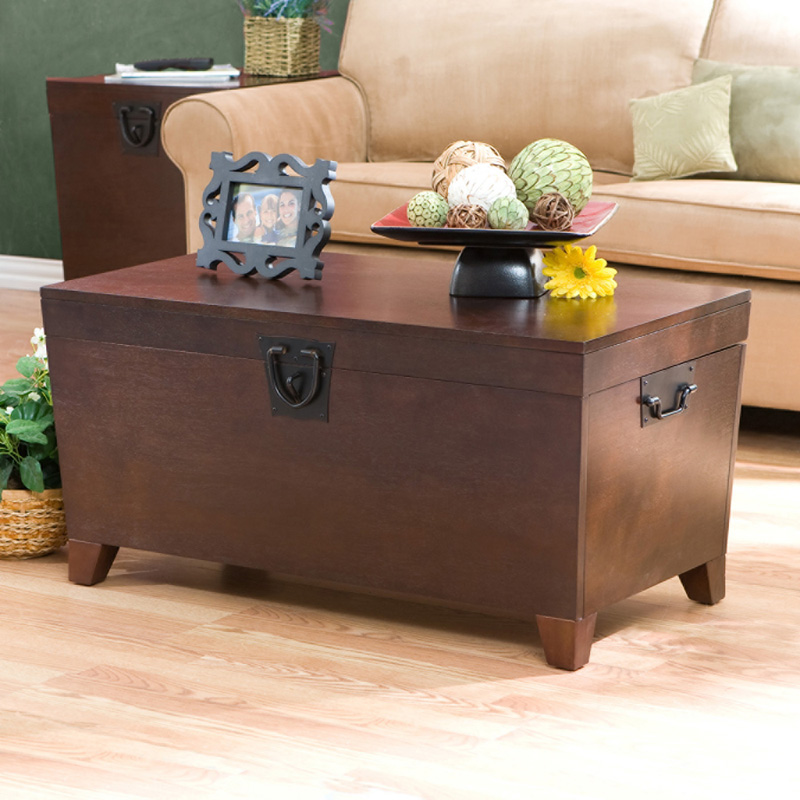 Southern Enterprises Pyramid Trunk Coffee Table Espresso Coffee Tables At Hayneedle