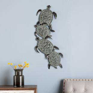 Sea Turtle Metal Indoor/Outdoor Wall Art
