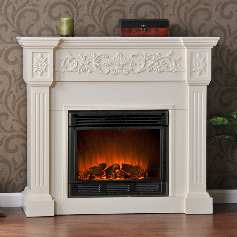 Southern Enterprises Calvert Ivory Electric Fireplace Fireplaces At Hayneedle