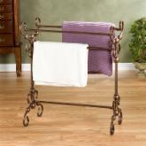  Lourdes Metal Scroll Quilt Rack