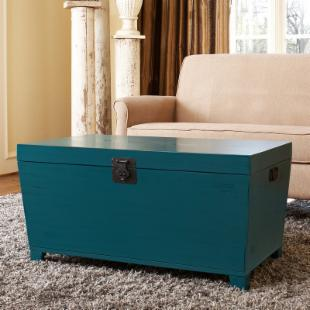 angelo:HOME Pyramid Trunk Coffee Table - Turquoise