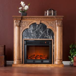 Savino Old World Oak Electric Fireplace