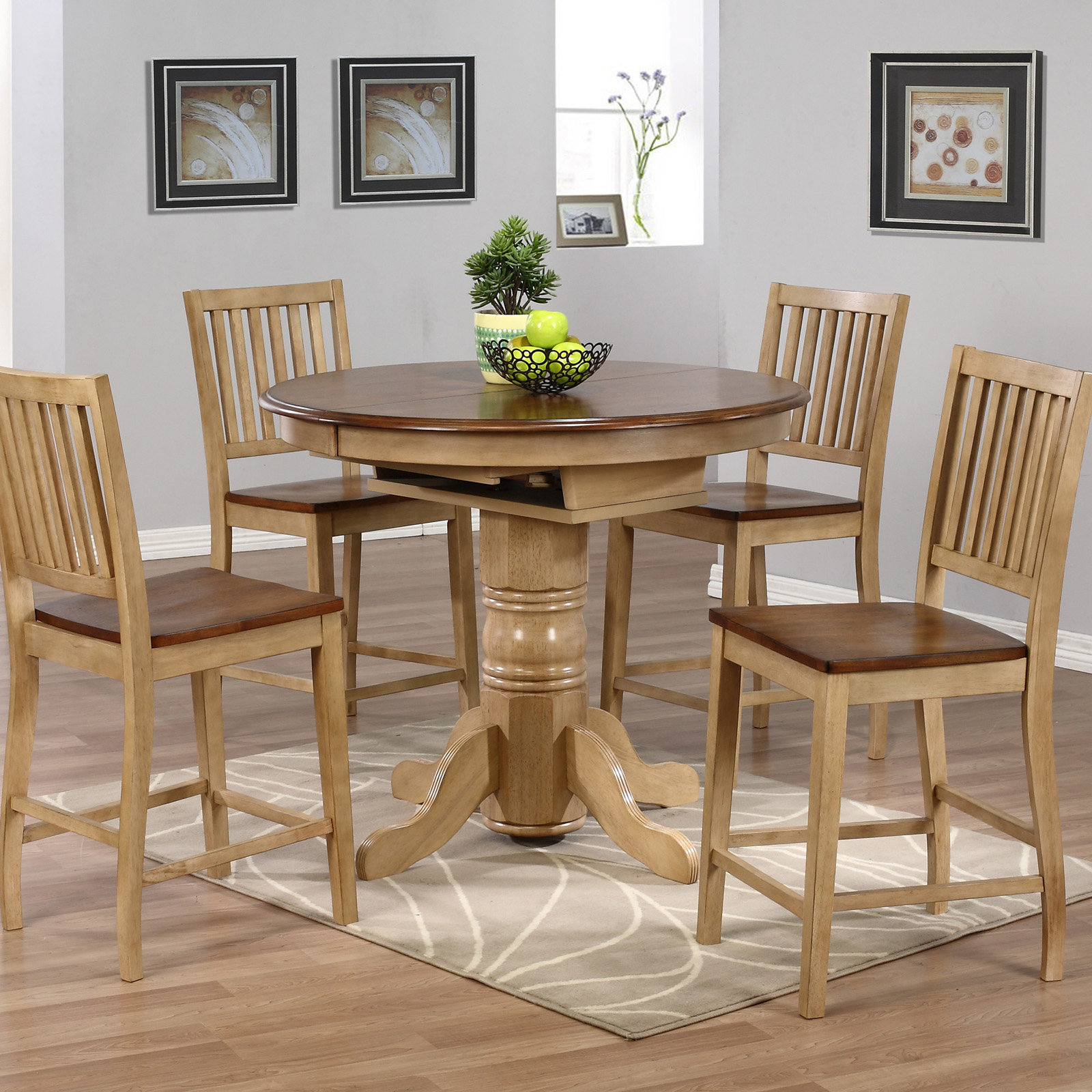 Sunset Trading Brookdale 5 Piece Round Counter Height
