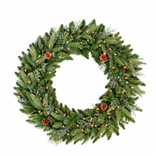 24 Inch Yosemite Prelit Clear Christmas Wreath