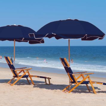 Frankford Umbrella 7.5 ft. Commercial Grade Beach Umbrella with Marine Grade Fabric and Ashwood Pole