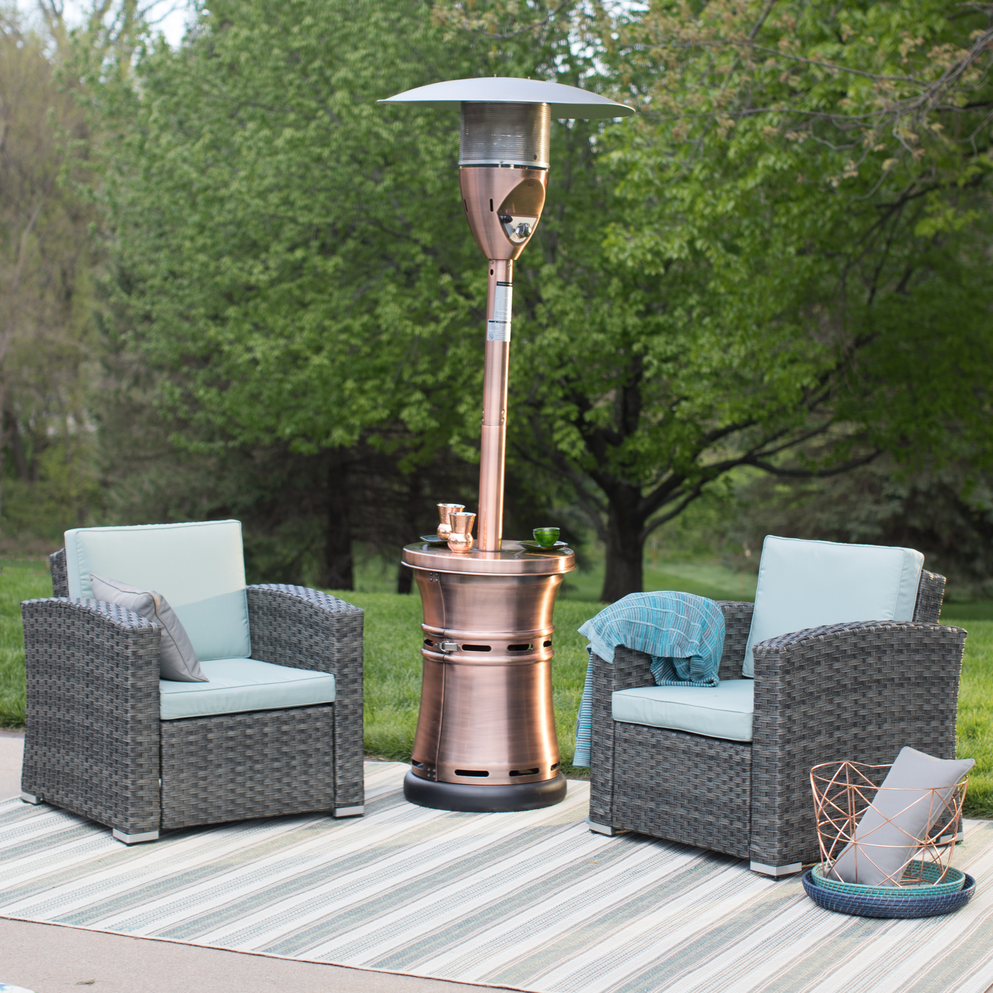 Red Ember Brunson Copper Plated Patio Heater Patio