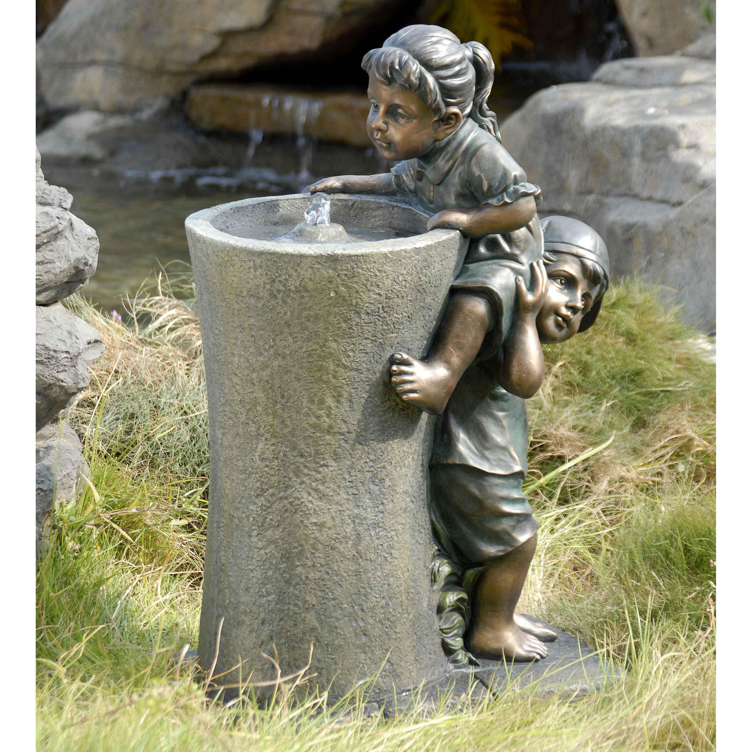 Boosting Children Polyresin Water Fountain At Hayneedle