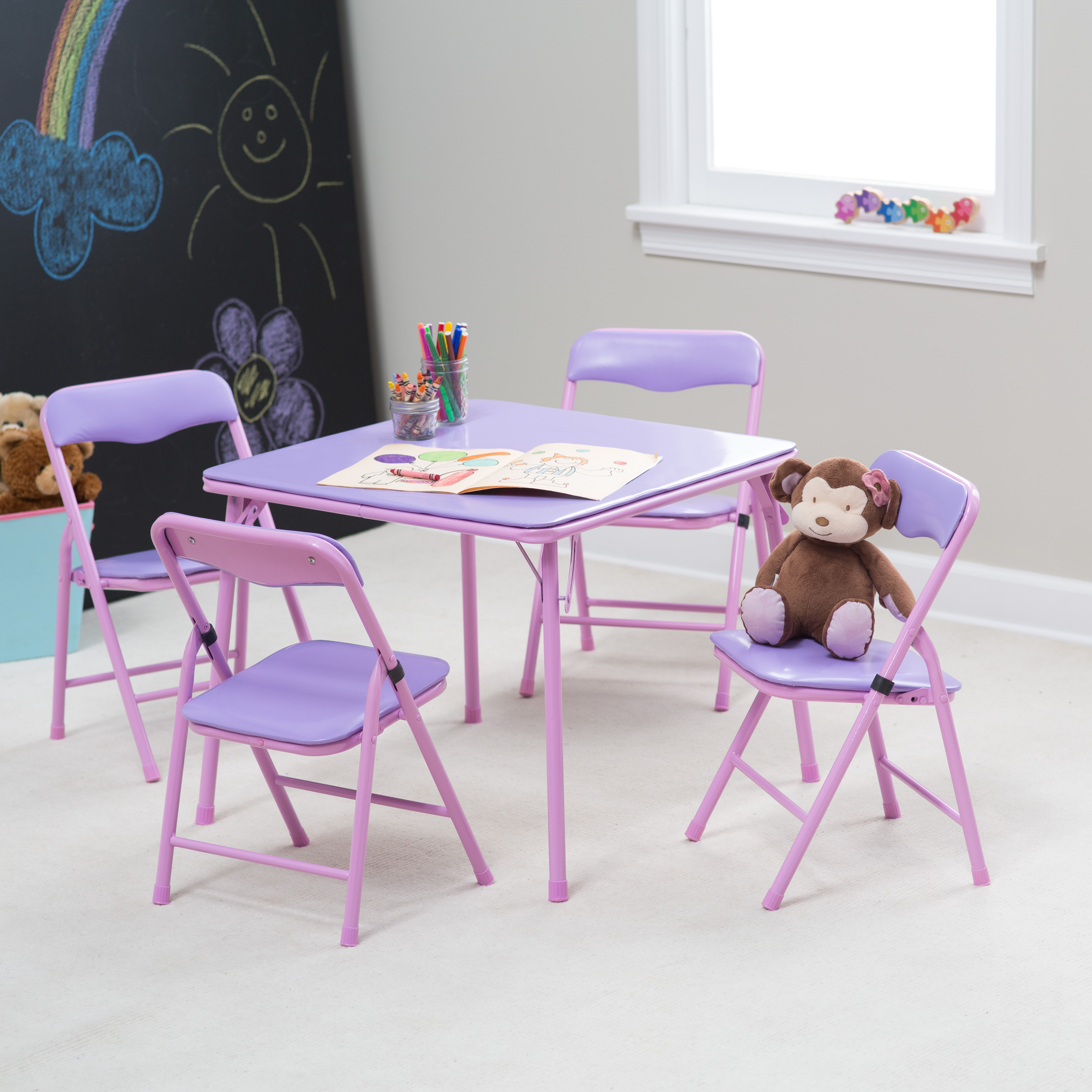 Showtime Childrens Folding Table and Chair Set Kids Tables and Chairs at Ha