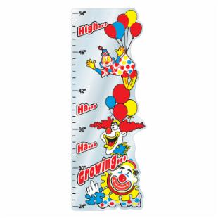 Clowns Growth Chart Mirror - 12W x 32H in.