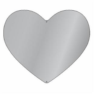 Heart Silhouette Mirror - 30W x 26H in.