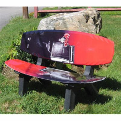 Skichair Wake Board Bench Black and Red
