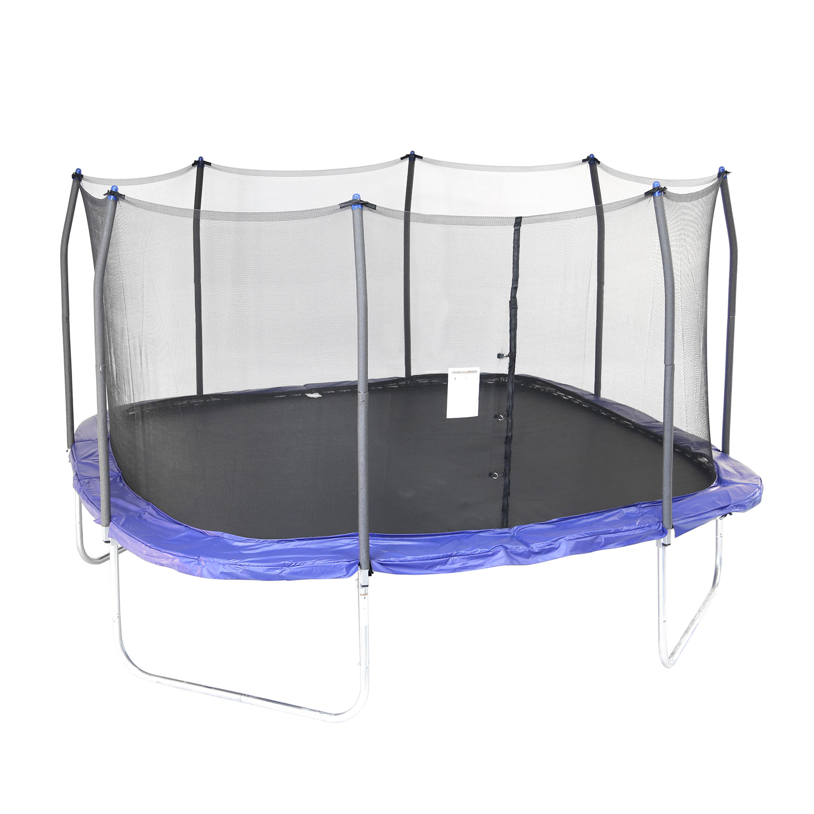Skywalker 14 Foot Square Trampoline And Enclosure With: Skywalker Trampolines 14 X 14 Ft. Square Trampoline With