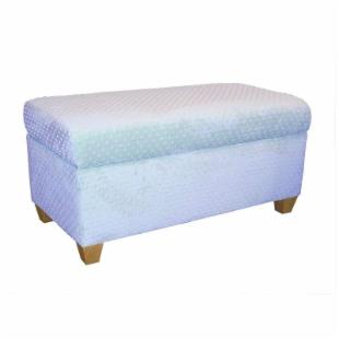 Velour Upholstered Storage Bench