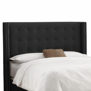 Nail Button Tufted Wingback Linen Upholstered Headboard