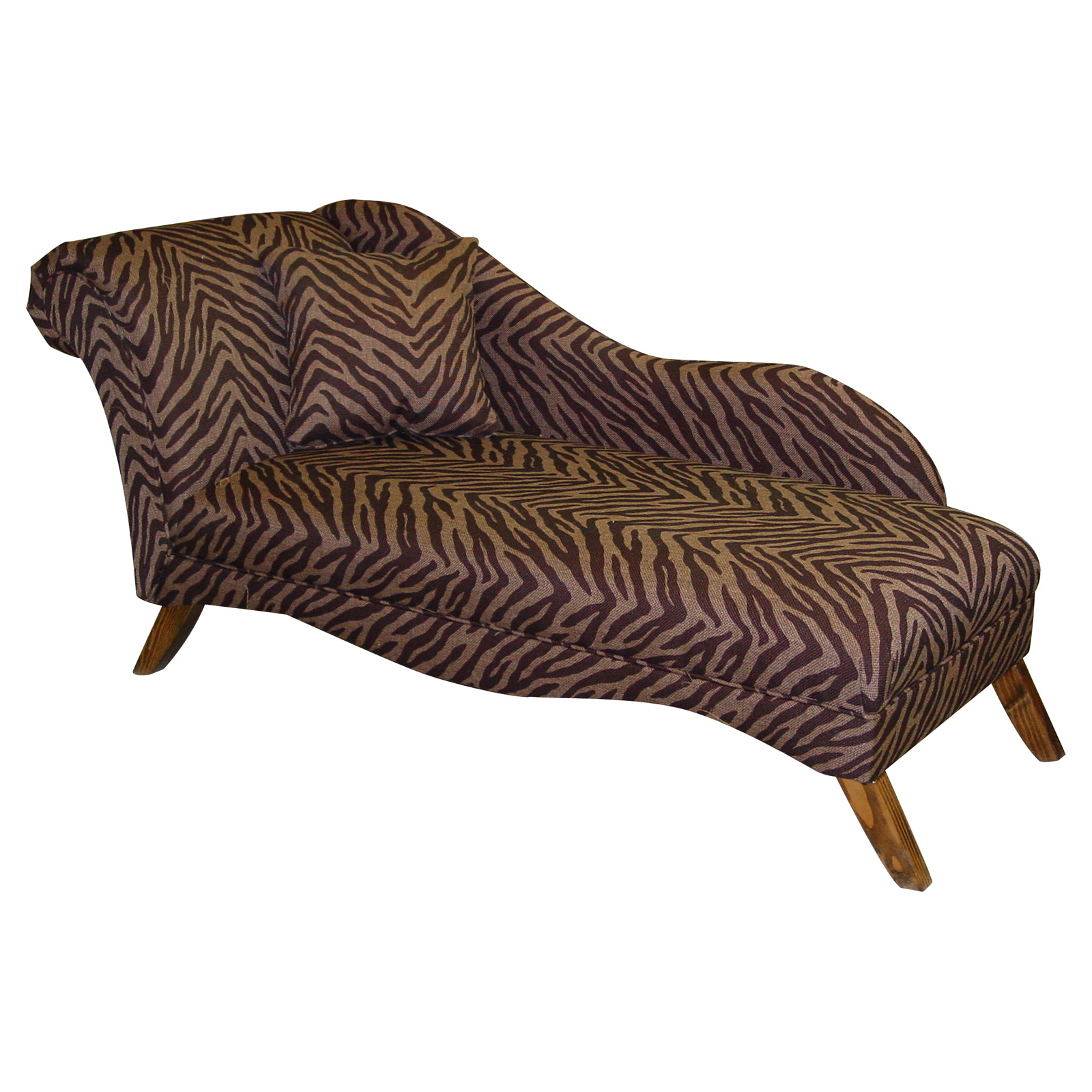 Cosmo chaise lounge animal print bam zizi at hayneedle for Animal print chaise