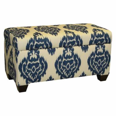 Skyline Ikat Diamonds Upholstered Storage Bench