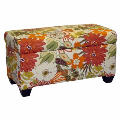 Skyline Lilith Marigold Upholstered Storage Bench