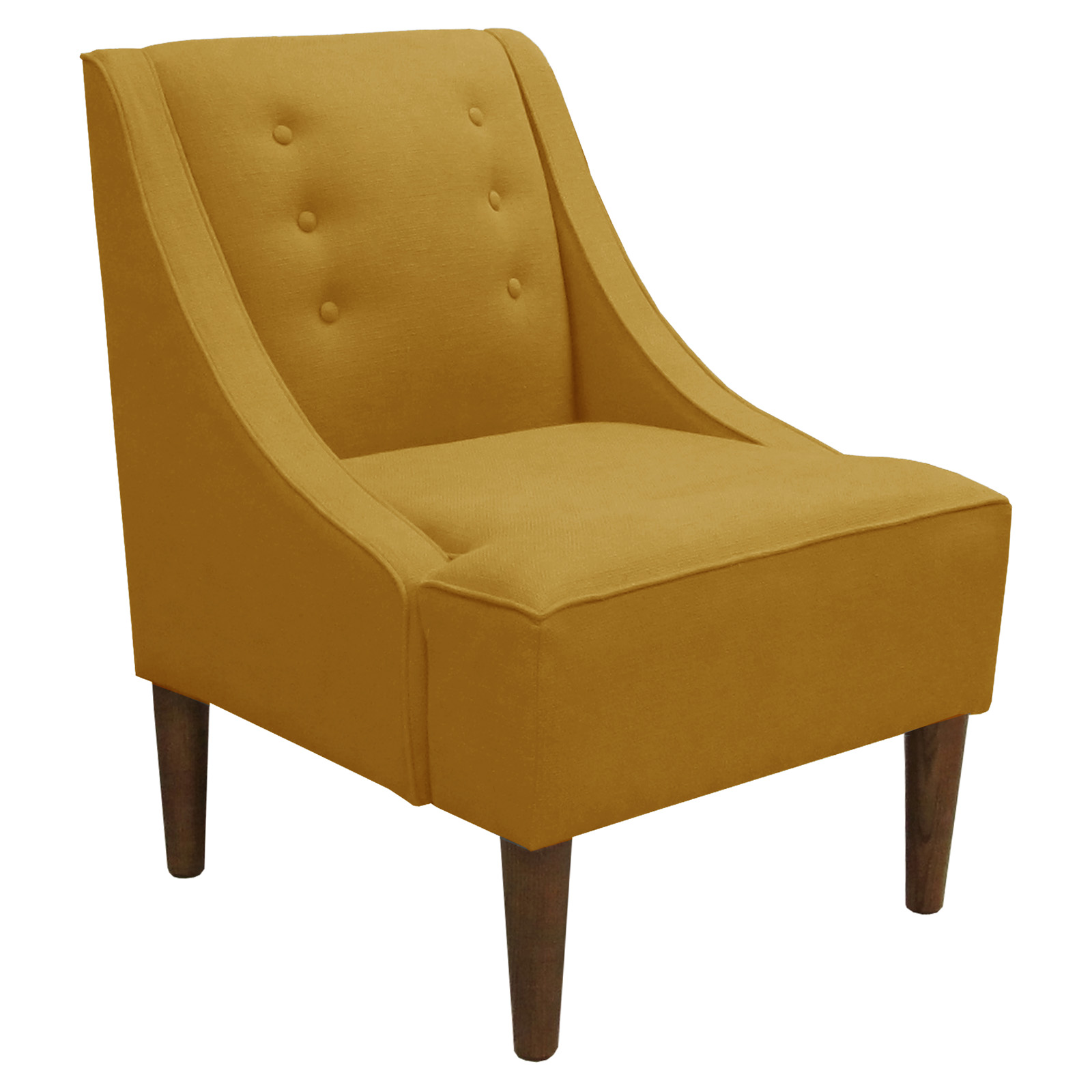 Swoop Arm Chair French Yellow Linen Accent Chairs At