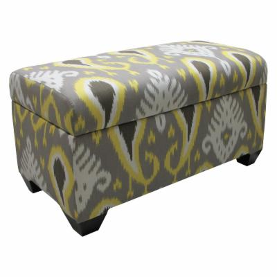 Skyline Storage Bench - Batavia Ikat Citrine