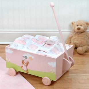 Welcome to the World Baby Wagon Gift Set