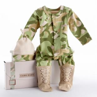 Big Dreamzzz Baby Camo Two Piece Layette Set with Optional Personalization