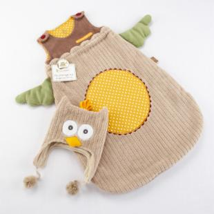 My Little Night Owl Snuggle Sack and Cap