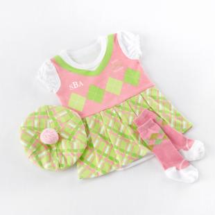 Big Dreamzzz Baby Girl Golfer Three-Piece Layette Set with Optional Personalization