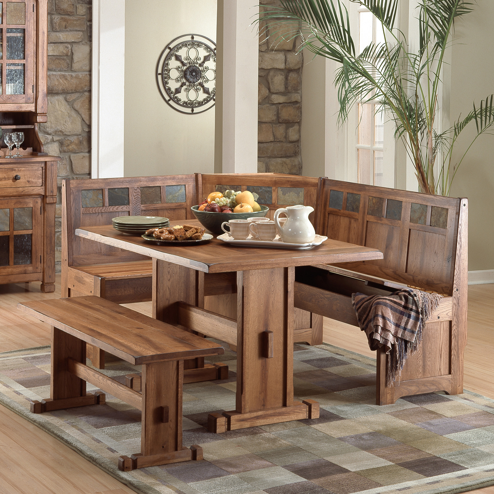 Corner Bench Kitchen Table Set A Kitchen And Dining Nook: Sunny Designs Sedona 4 Piece Breakfast Nook Set